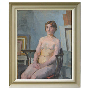 'Nude sitting in Chair,' Philippa Maynard Romer (1929-2010)