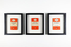 Framed Vintage Penguin Books