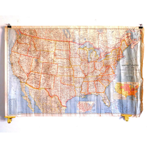 Large 1940 Map of the USA