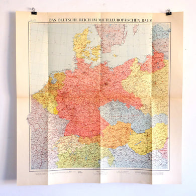 Large Vintage Map of Germany