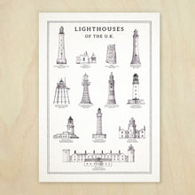 Load image into Gallery viewer, Lighthouses of the UK Info Chart - A4