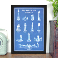 Load image into Gallery viewer, Lighthouses of the UK Info Chart - A3