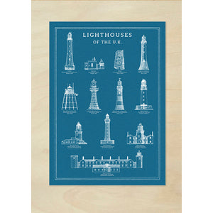 Lighthouses of the UK Info Chart - A3