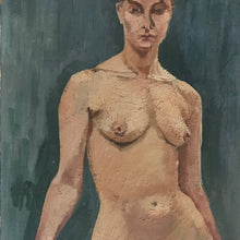 Load image into Gallery viewer, Original Nude - Oil On Board - c1950s