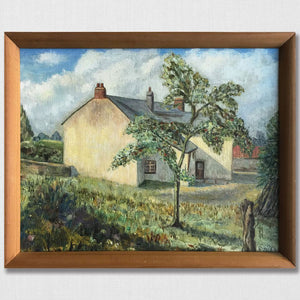 Original Framed Oil - Apple Tree Cottage