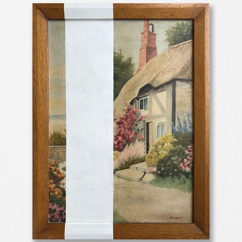 1930s Oil on Board - Country Cottage