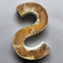 Load image into Gallery viewer, 1940s Black Wooden Letter - S