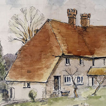 Load image into Gallery viewer, Sussex Cottage Vintage Watercolour - 1972