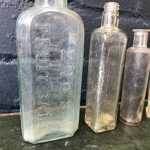 Collection of Four Vintage Glass Bottles - Set 2