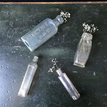Load image into Gallery viewer, Collection of Four Vintage Glass Bottles - Set 2