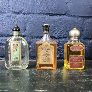 Collection of Three Vintage Glass Bottles with Original Contents - Set 4