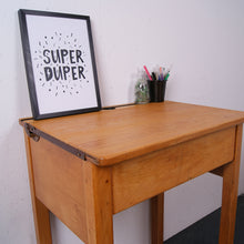 Load image into Gallery viewer, Children's Wooden Single School Desk with Chalkboard Lid