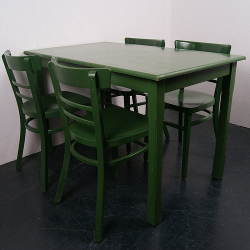 Wooden green table and chair sets from Brussels