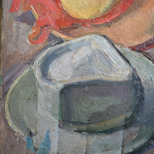 Early 20thC French Oil Painting - 'Les Chapeaux'