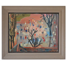 Load image into Gallery viewer, Mid Century French Oil Painting - 'La petite école'