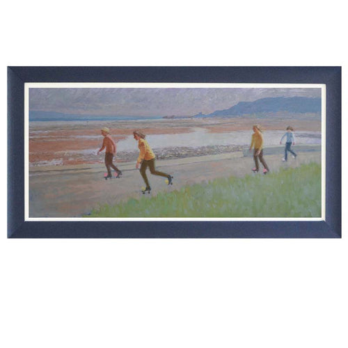 Mid Century Painting, 'Rollerskating' - Mary Beresford Williams