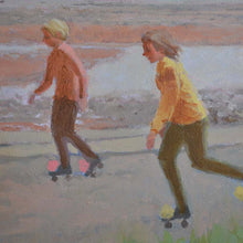 Load image into Gallery viewer, Mid Century Painting, 'Rollerskating' - Mary Beresford Williams