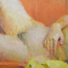Load image into Gallery viewer, Mid Century Painting - 'Nude on an Orange Sofa'