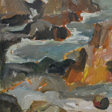 Load image into Gallery viewer, Mid Century Oil Painting - 'Rocks at Kullaberg'