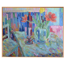 Load image into Gallery viewer, 1979 Large Still Life - 'Red and Yellow Tulips'