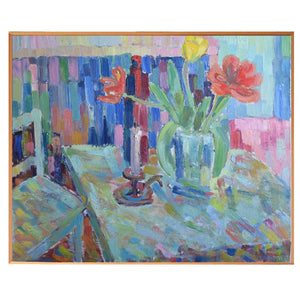 1979 Large Still Life - 'Red and Yellow Tulips'