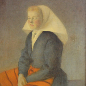 Large 1909, Oil on Canvas - 'Hoysen's Maria aged 16'