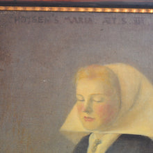 Load image into Gallery viewer, Large 1909, Oil on Canvas - 'Hoysen's Maria aged 16'