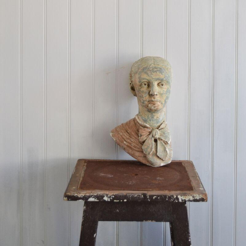 19th Century Plaster Bust of a Woman