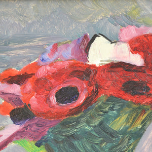 1957 Oil Painting - 'Anemones'