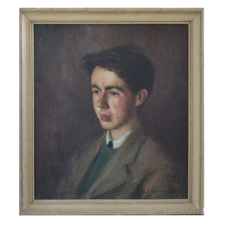 1956 Portrait of Boy by Maude Greenway