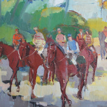 Load image into Gallery viewer, 1960 Oil Painting - 'Race Day'