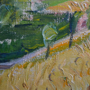 Mid Century Landscape - 'Wheat Field' by Knud Agger