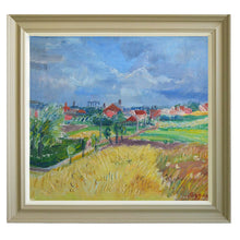 Load image into Gallery viewer, Mid Century Landscape - 'Wheat Field' by Knud Agger
