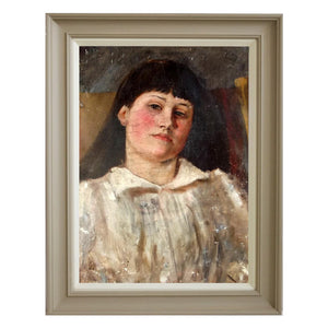 1890 Oil Painting - Portrait of a Young Girl