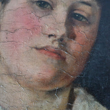 Load image into Gallery viewer, 1890 Oil Painting - Portrait of a Young Girl