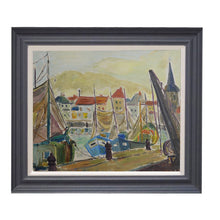 Load image into Gallery viewer, Mid Century French Harbour Scene