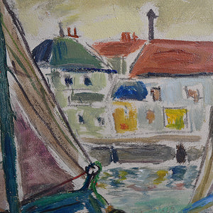 Mid Century French Harbour Scene