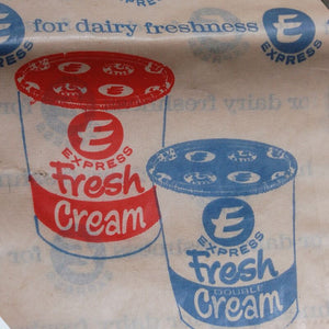 Vintage 1960s Express Dairies Paper Bags - Set of Four