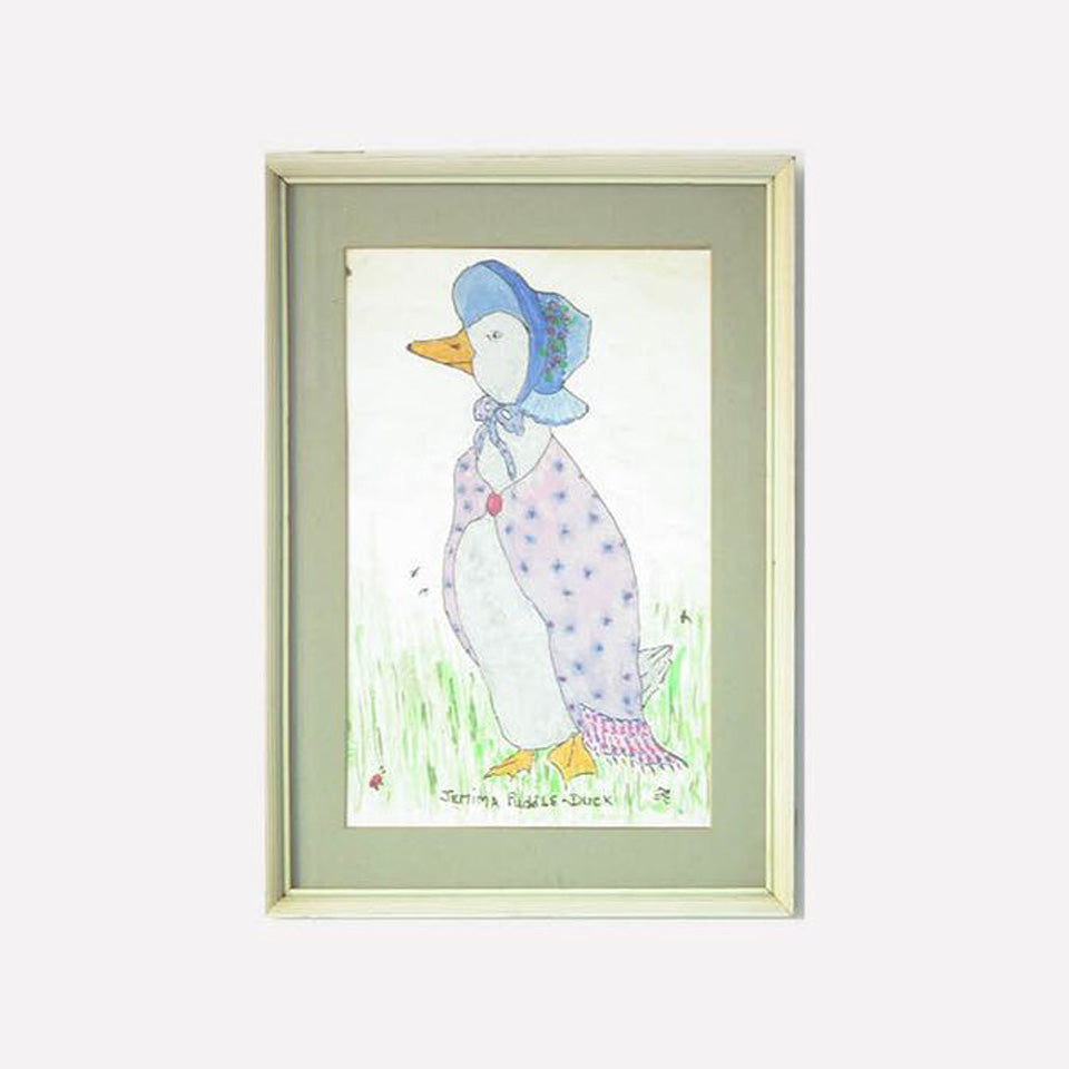 Framed Watercolor - Jemima Puddle Duck