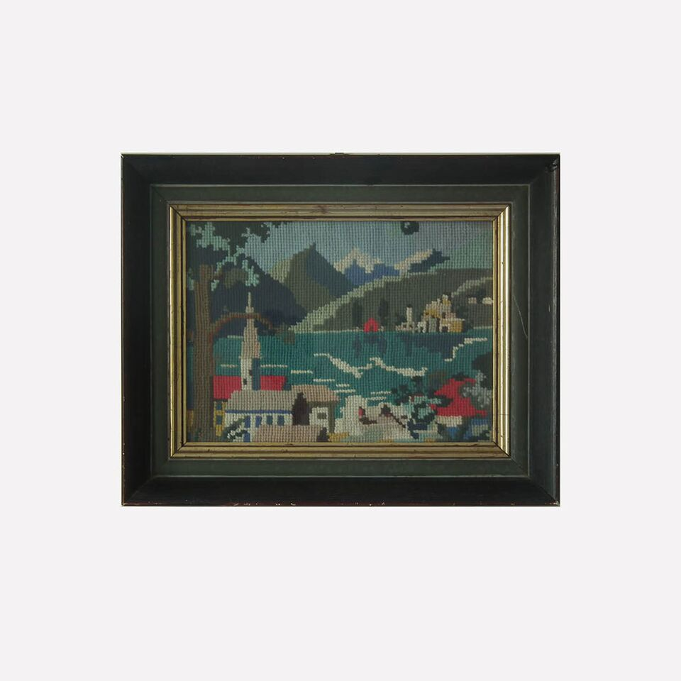 Framed Tapestry - Oh Little Town