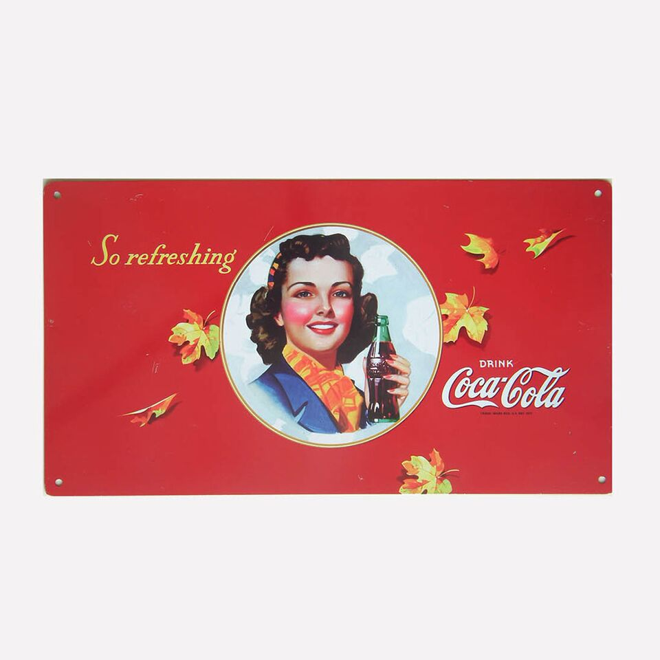Tin Metal Sign - So Refreshing