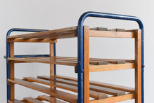 Load image into Gallery viewer, Vintage Metal Baker's Trolley with Wooden Shelves