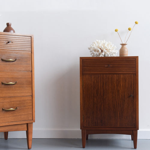 Rare Vintage 1960s 'Havana' Range Teak and Rosewood Single Bedside Cabinet by Wrighton