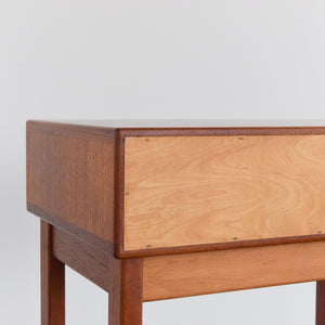 Vintage Small Single Bedside Table with Formica Lined Drawer