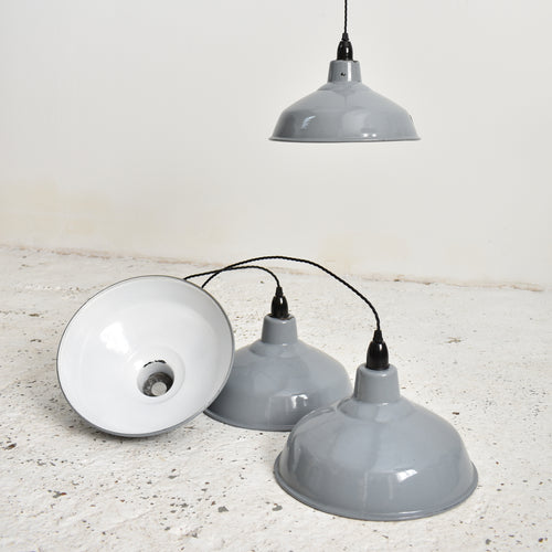 Benjamin Industrial Pendant Light Shade Grey 12""