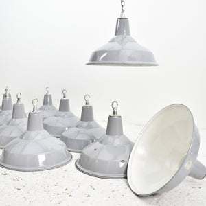 Benjamin Industrial Pendant Light Shade Grey 16""