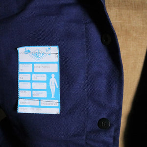 Blue French Vintage Workwear Jacket - Large with Label