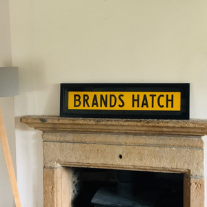 Framed Vintage Bus Blind - Brands Hatch