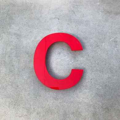 C - Medium Red Cinema Letter Type1