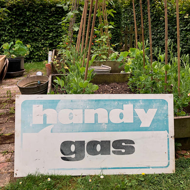 Large Metal Handy Gas Sign